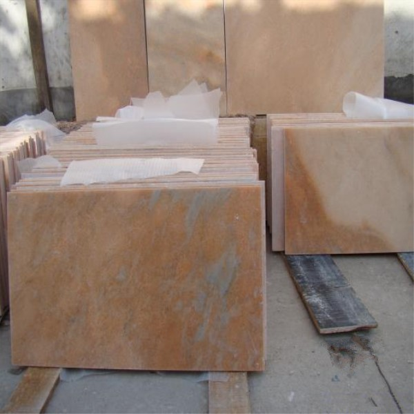 sunset red marble tiles
